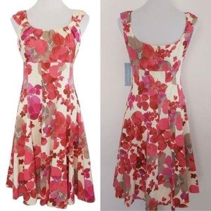 NWT London Times Watercolor Floral A-Line Dress